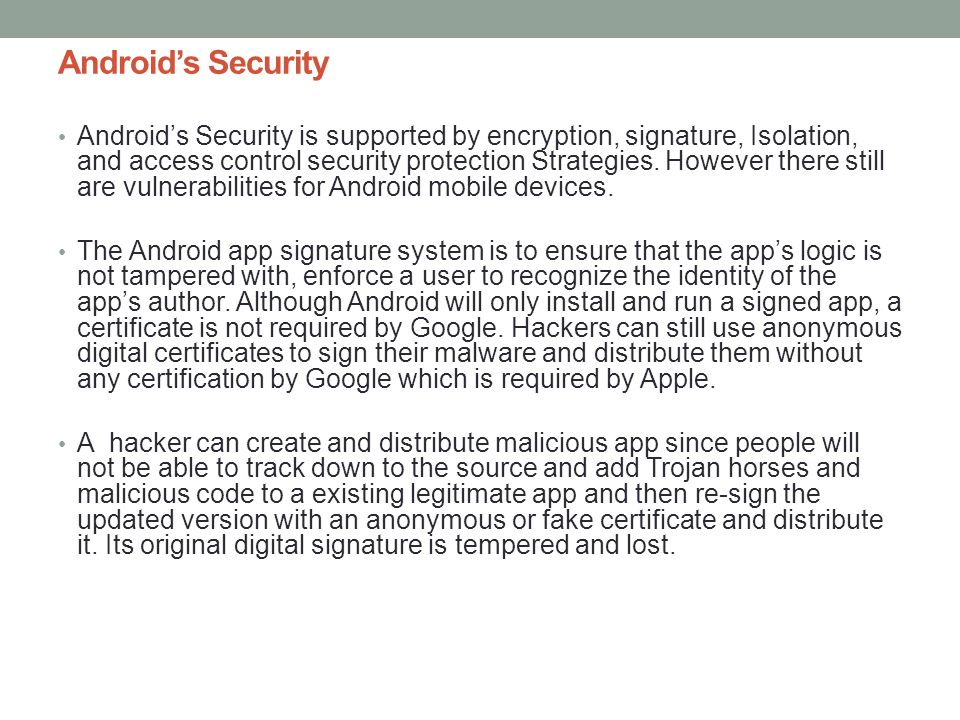 Android's Security