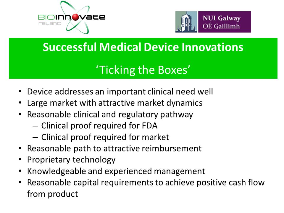 Successful Medical Device Innovations