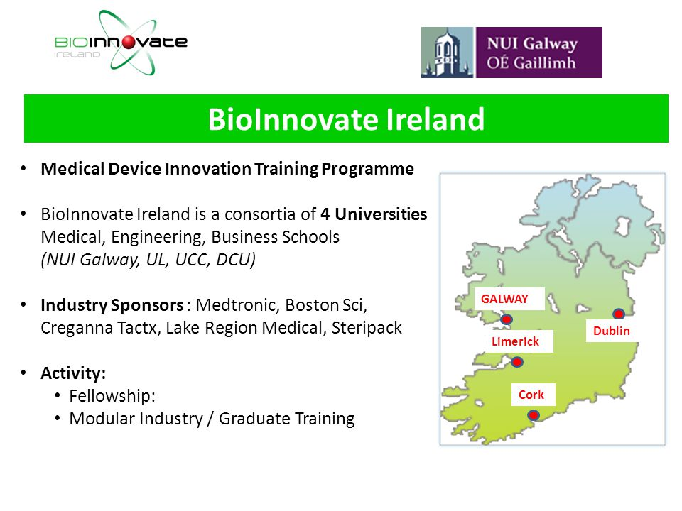 BioInnovate Ireland Medical Device Innovation Training Programme