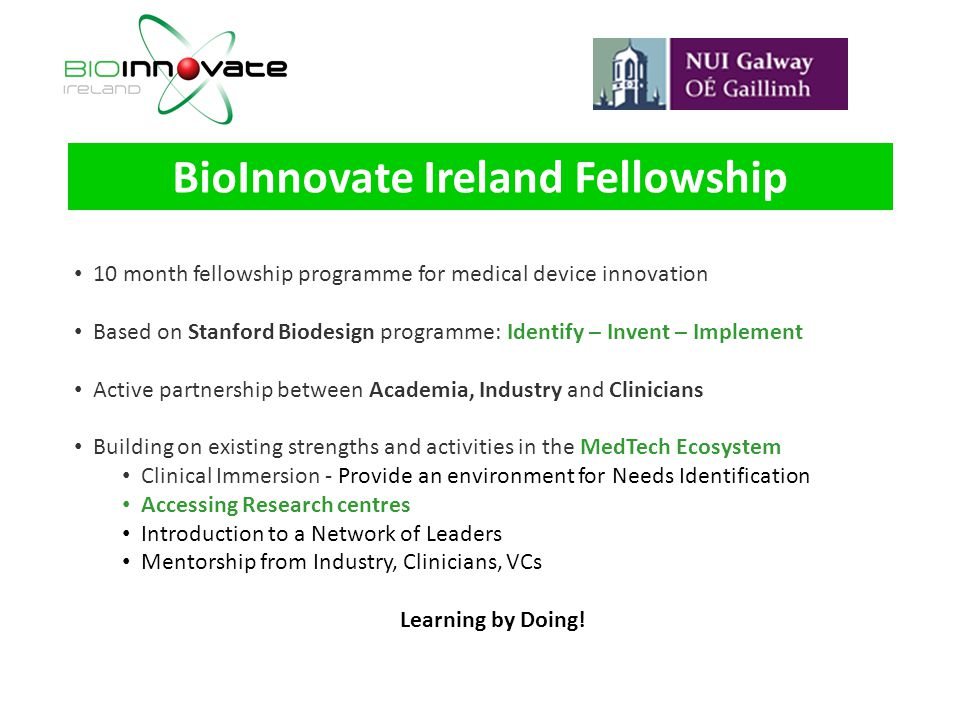 BioInnovate Ireland Fellowship