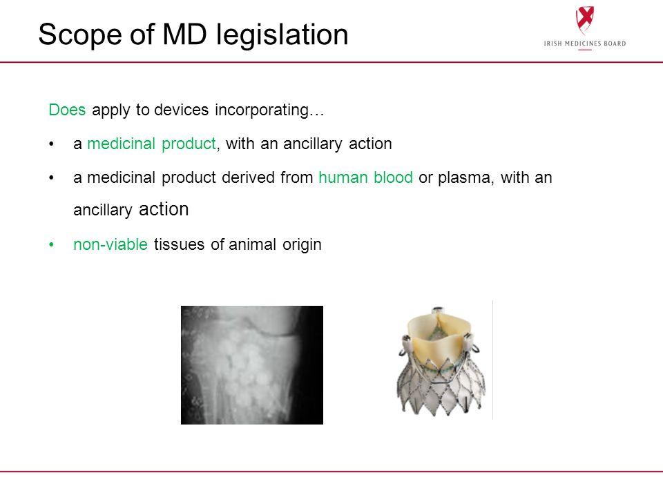 Scope of MD legislation