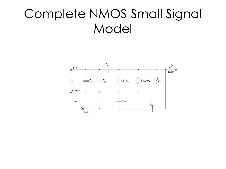 Complete NMOS Small Signal Model
