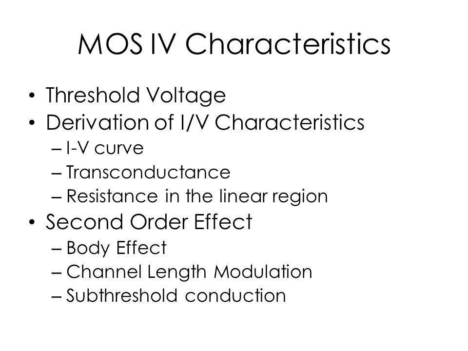 MOS IV Characteristics
