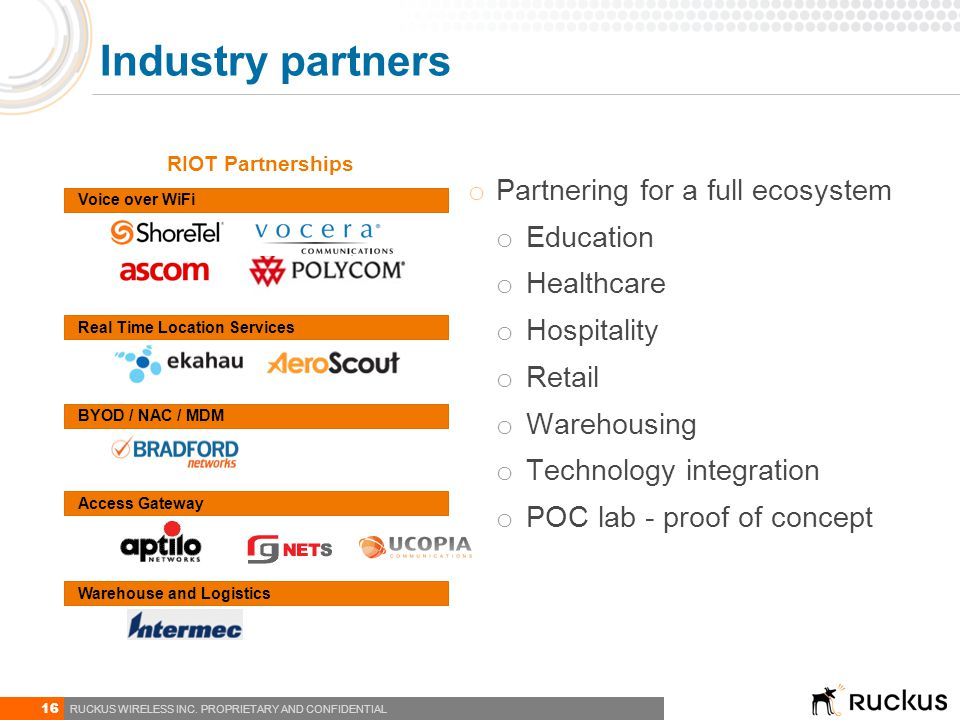 Industry partners Partnering for a full ecosystem Education Healthcare