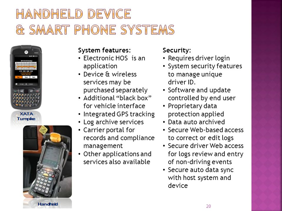 Handheld Device & Smart Phone Systems