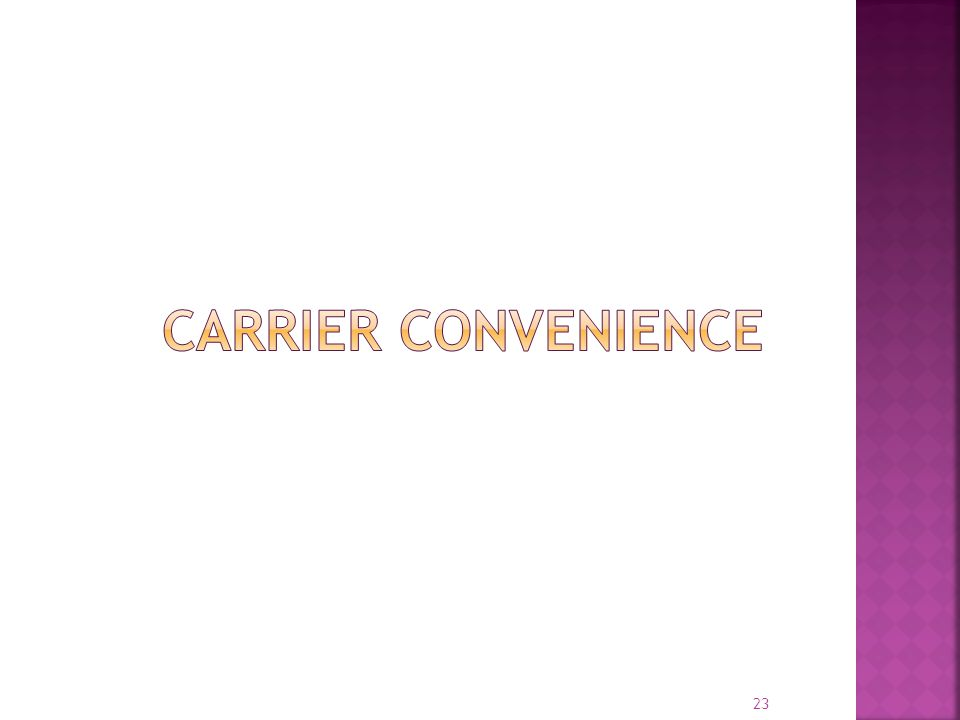 Carrier Convenience EOBR systems have significant differences in terms of overall technical architecture and operational models . . .
