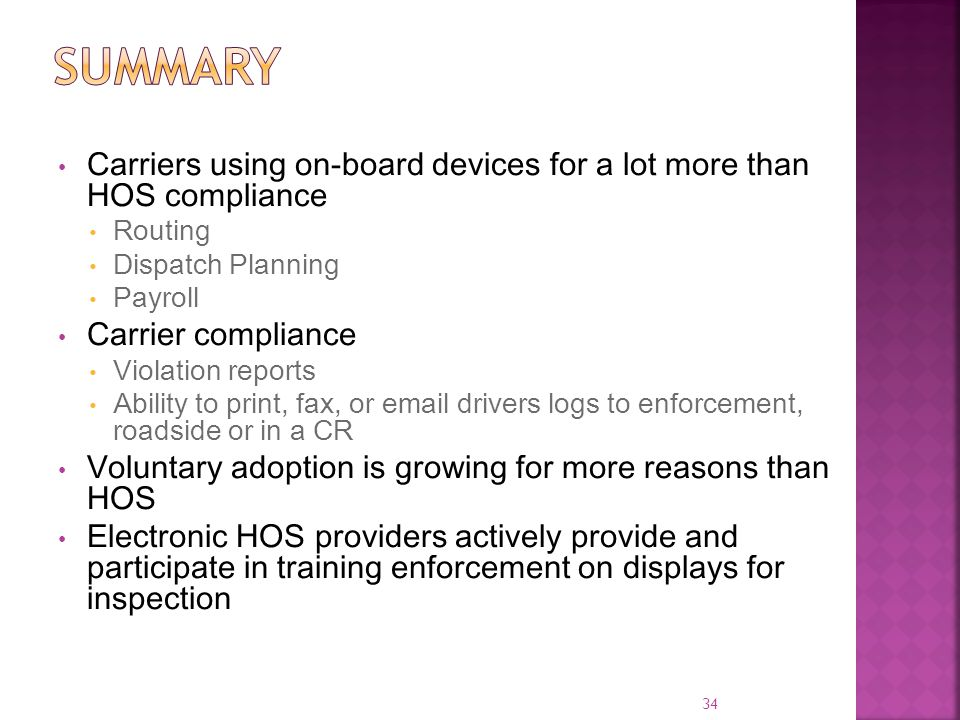 summary Carriers using on-board devices for a lot more than HOS compliance. Routing. Dispatch Planning.