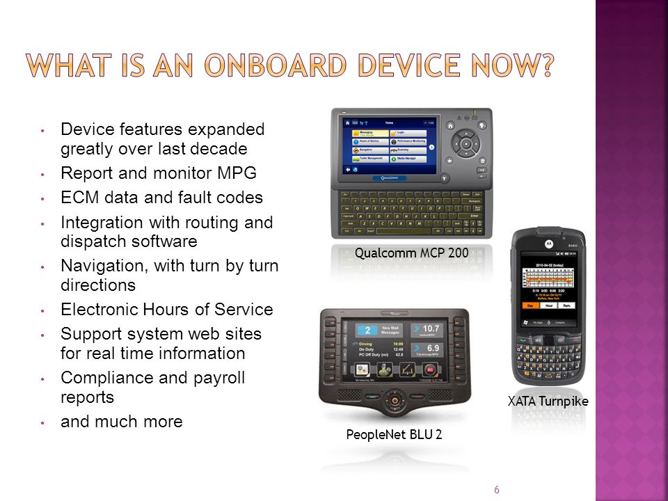What is an onboard device now