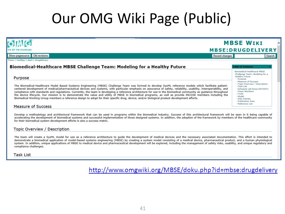 Our OMG Wiki Page (Public)