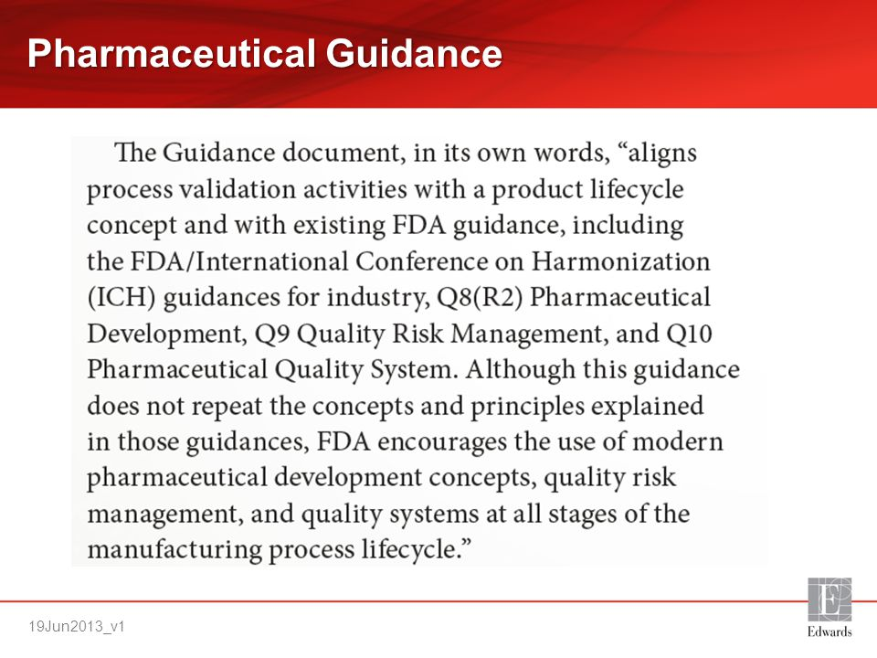 Pharmaceutical Guidance
