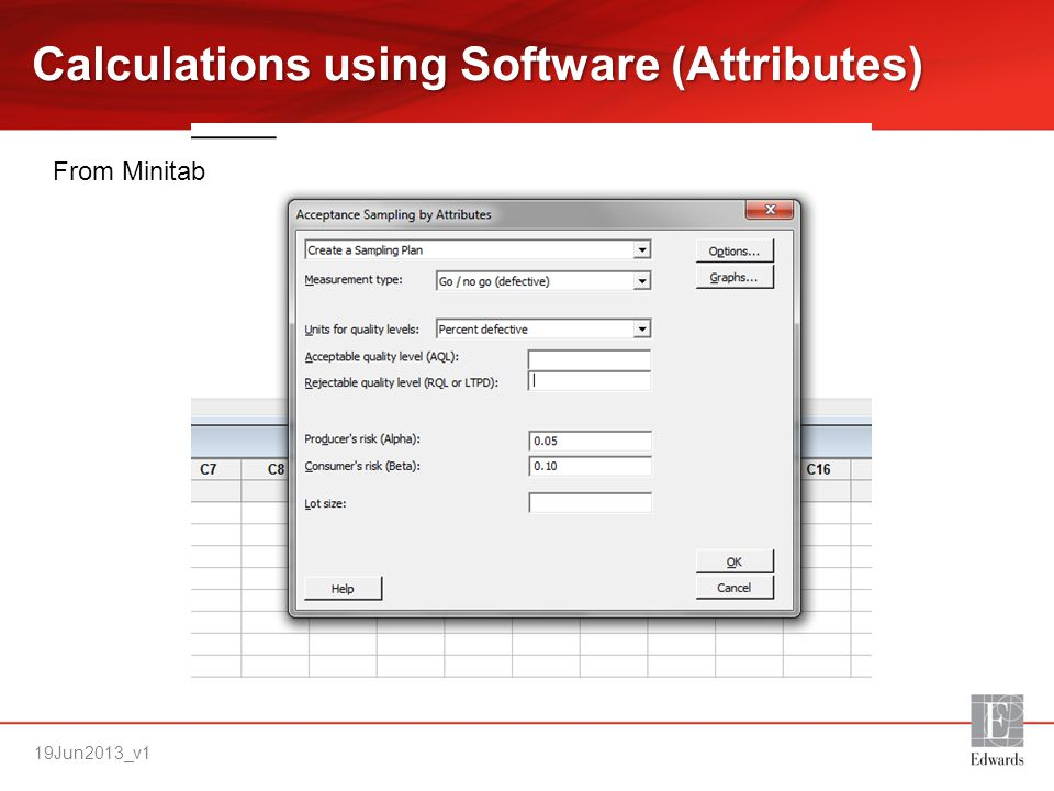 Calculations using Software (Attributes)
