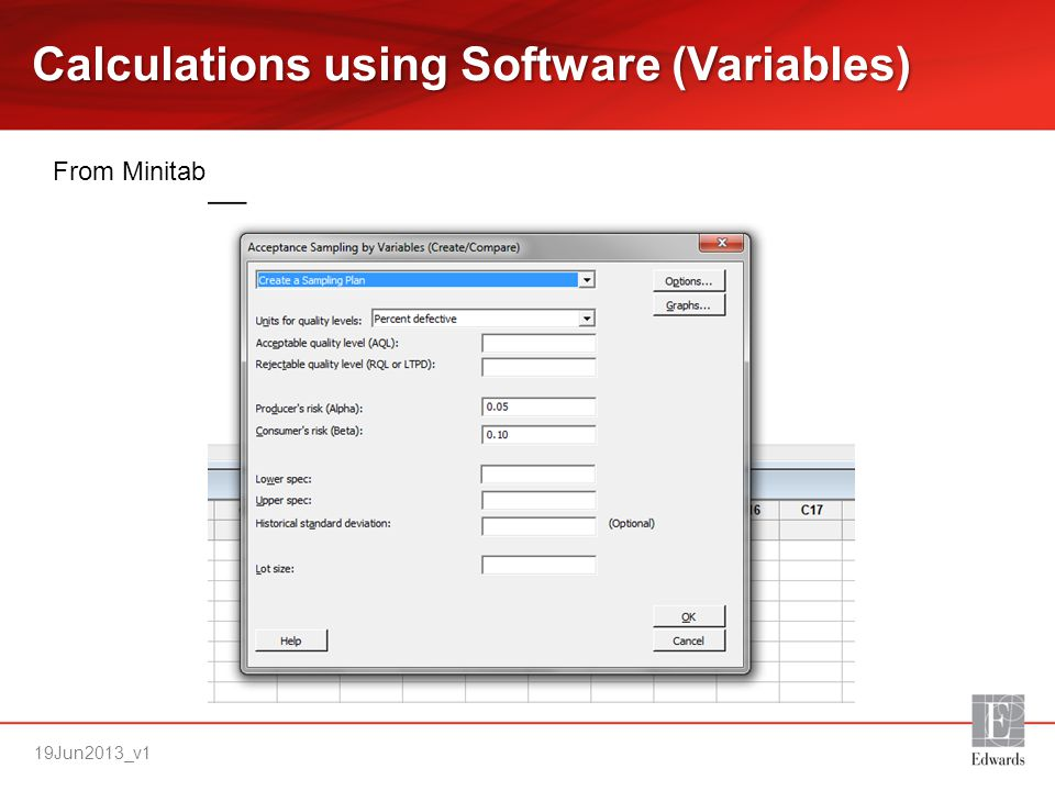 Calculations using Software (Variables)