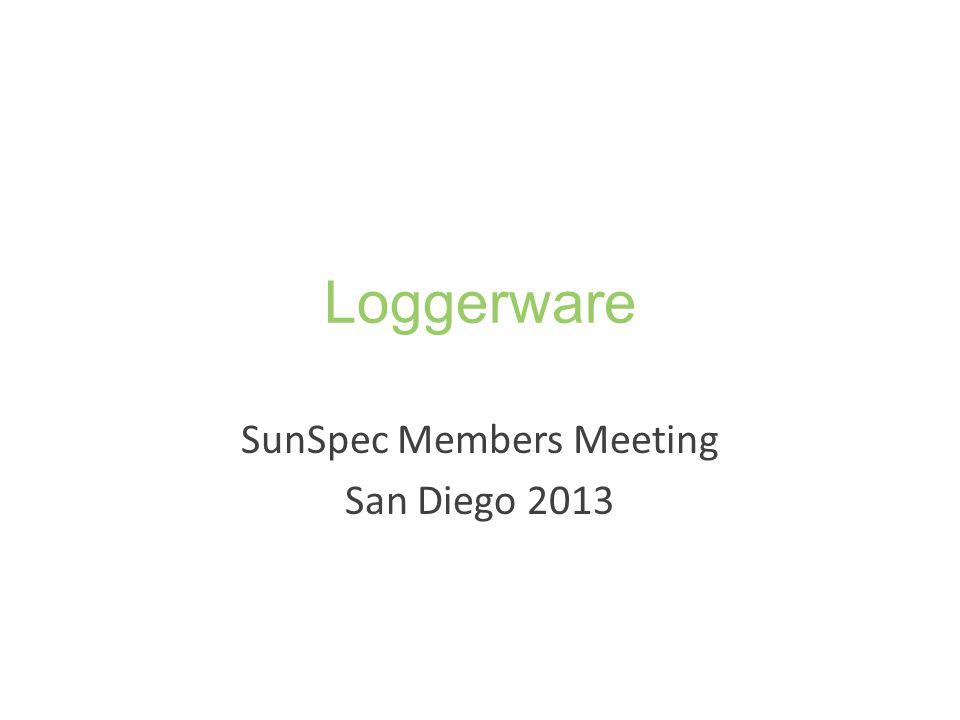 SunSpec Members Meeting San Diego 2013