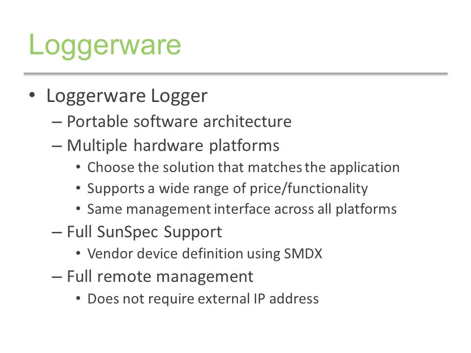 Loggerware Loggerware Logger Portable software architecture