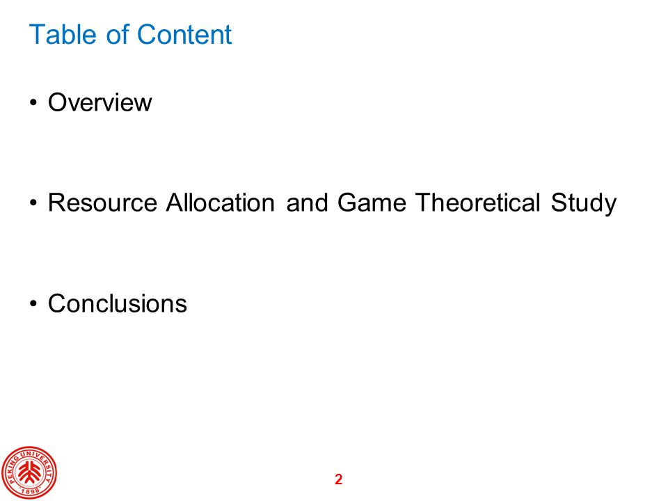 Table of Content Overview