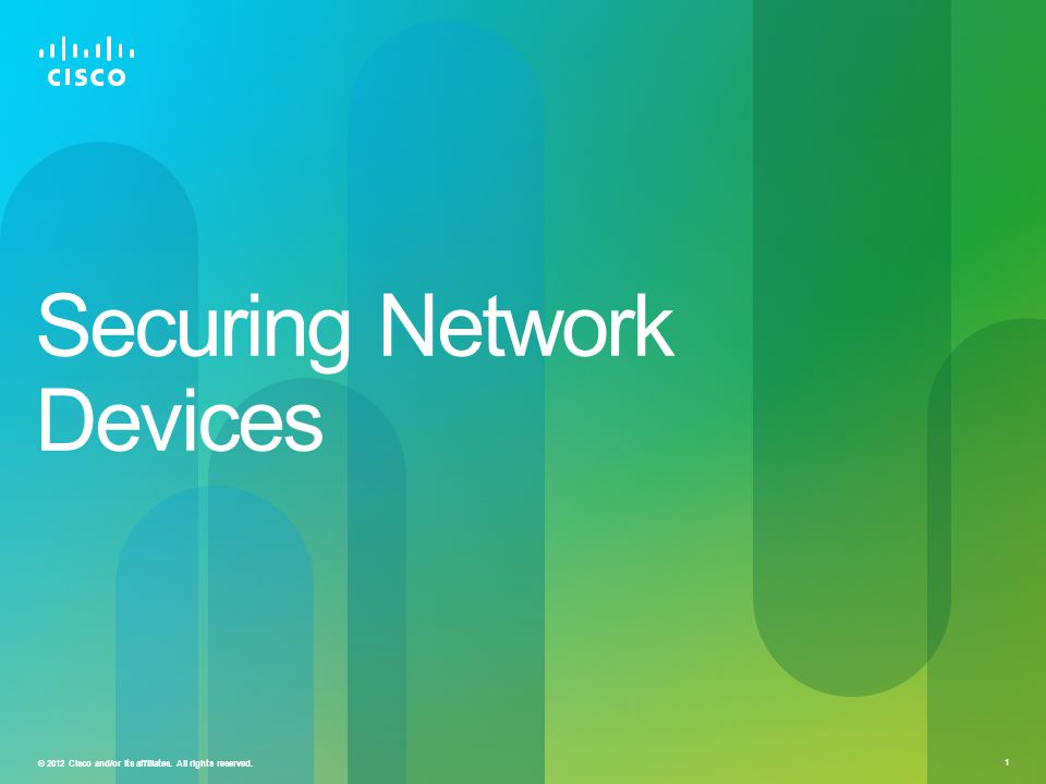 Securing Network Devices