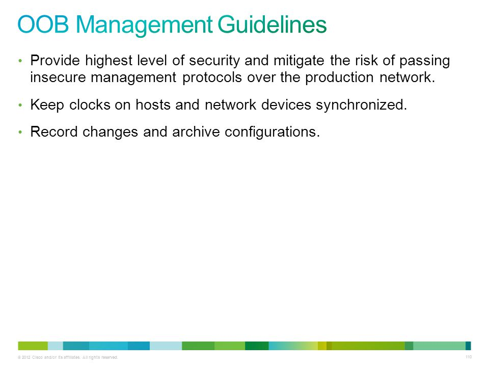 OOB Management Guidelines