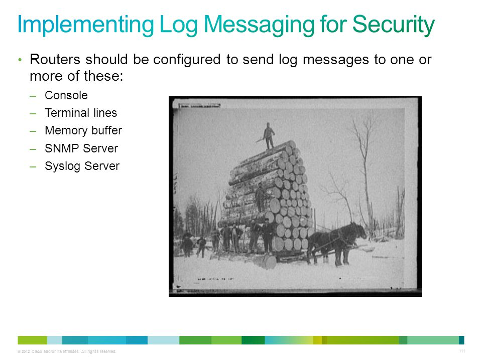 Implementing Log Messaging for Security