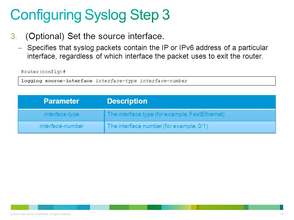 Configuring Syslog Step 3