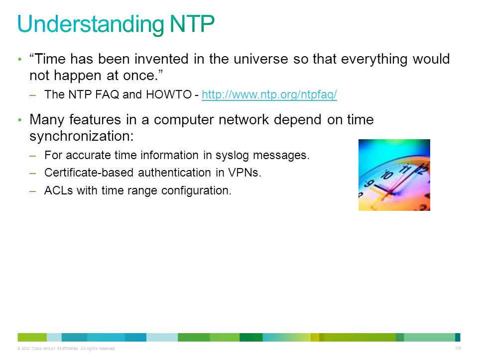 Understanding NTP Time has been invented in the universe so that everything would not happen at once.