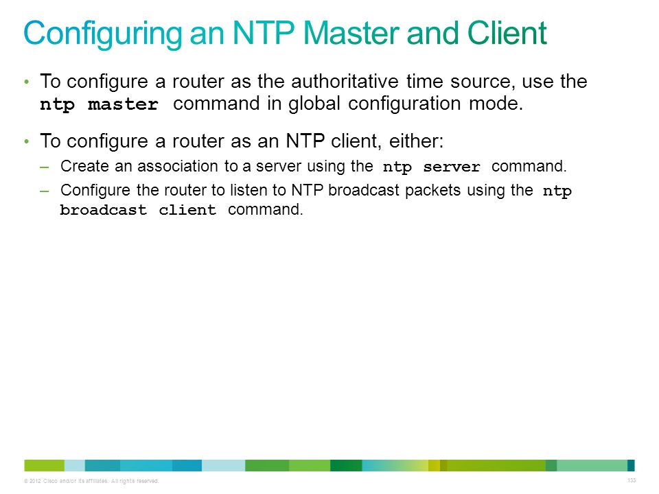 Configuring an NTP Master and Client