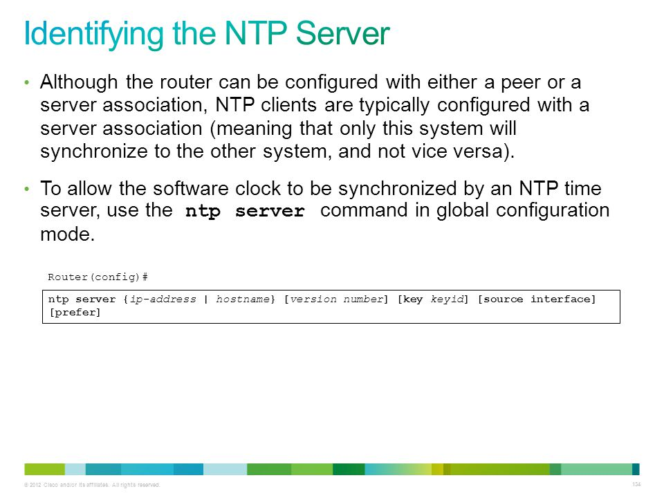 Identifying the NTP Server