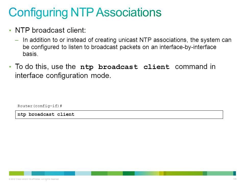 Configuring NTP Associations