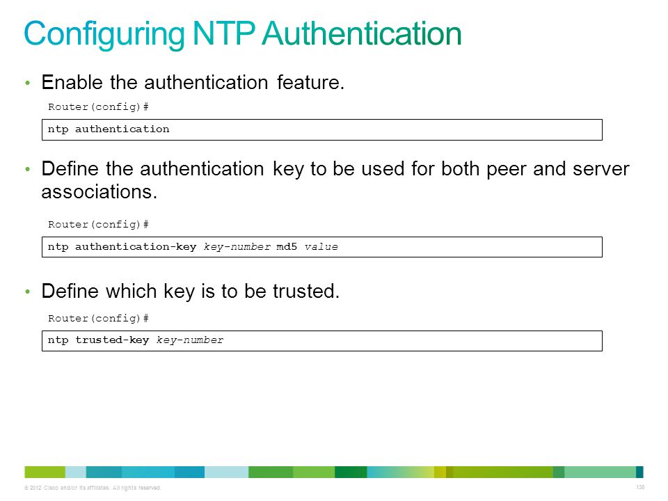 Configuring NTP Authentication