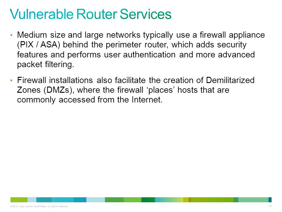 Vulnerable Router Services