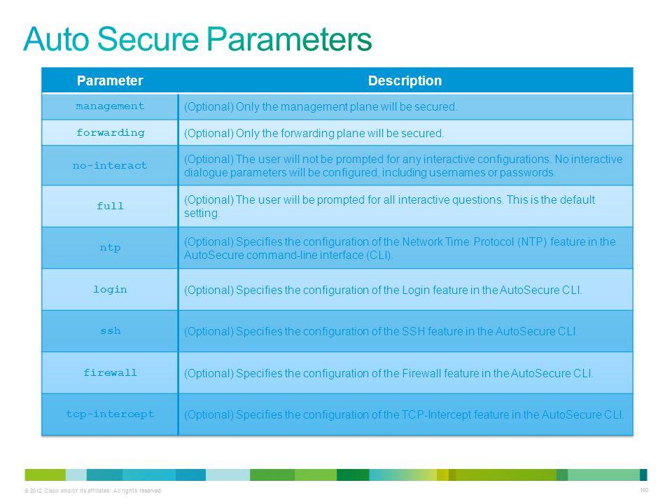 Auto Secure Parameters