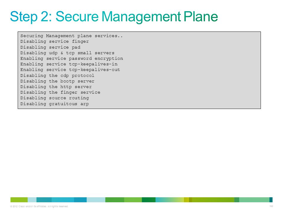 Step 2: Secure Management Plane