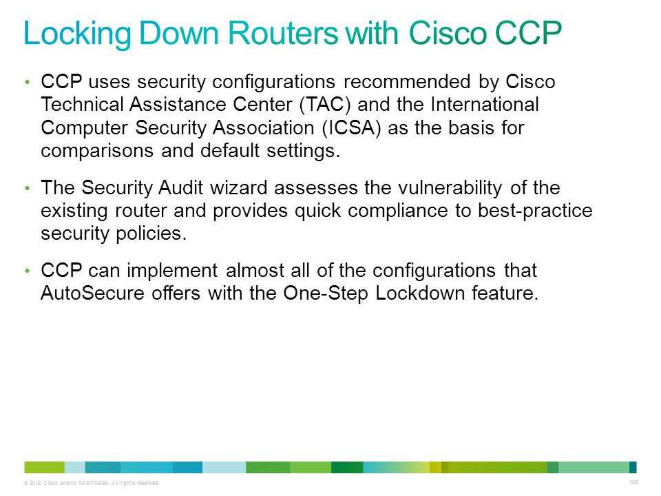 Locking Down Routers with Cisco CCP