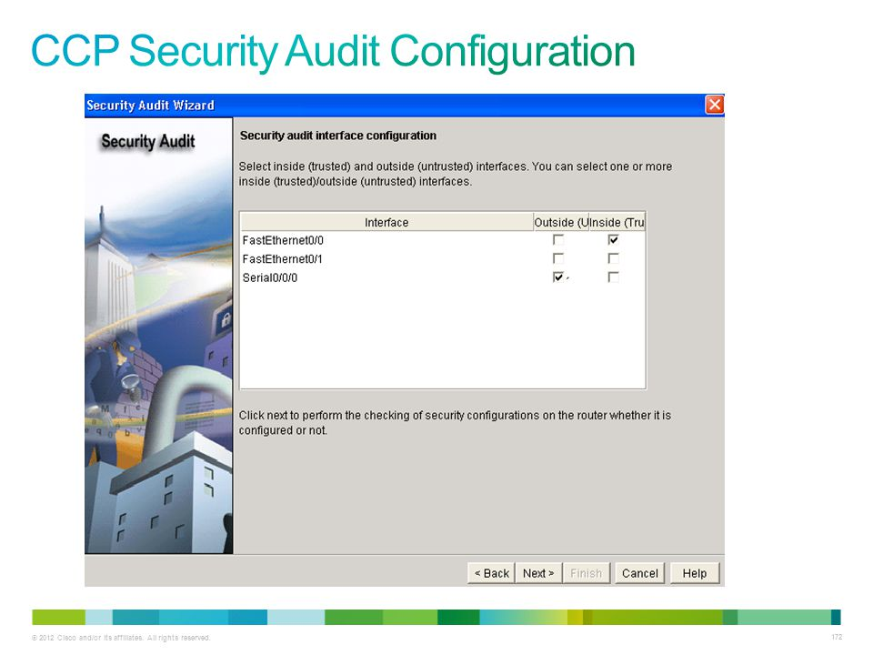 CCP Security Audit Configuration