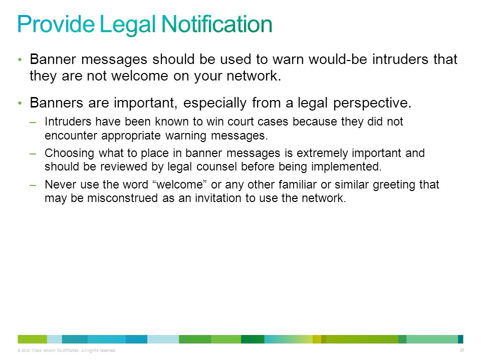 Provide Legal Notification