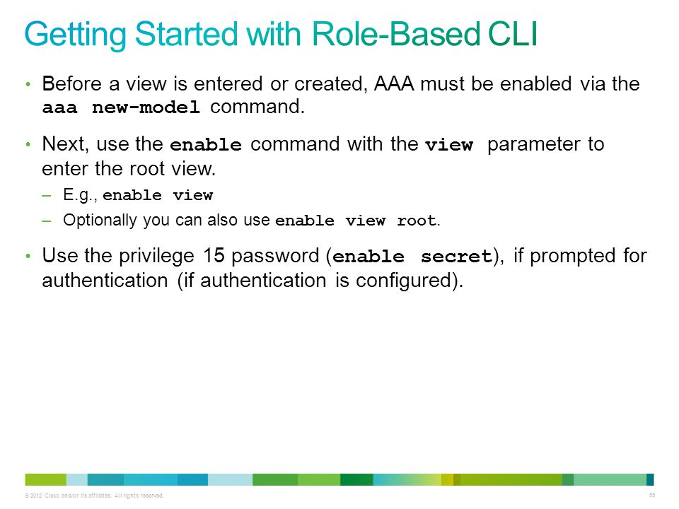 Getting Started with Role-Based CLI