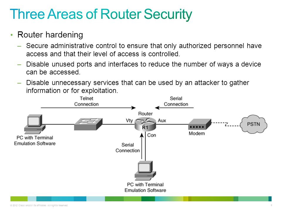 Three Areas of Router Security