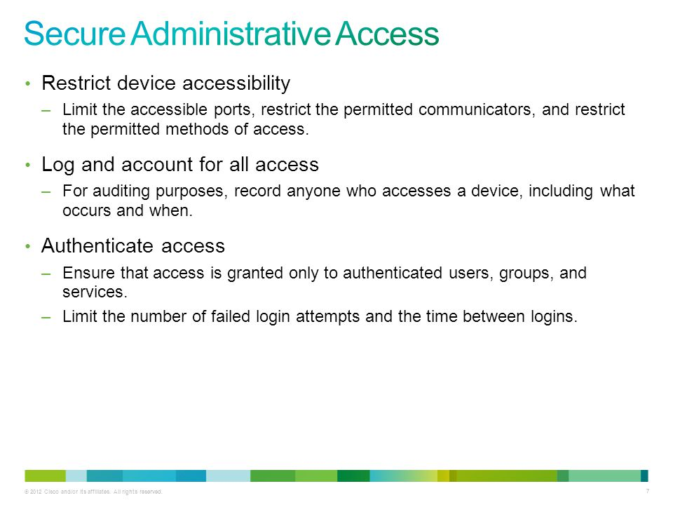 Secure Administrative Access