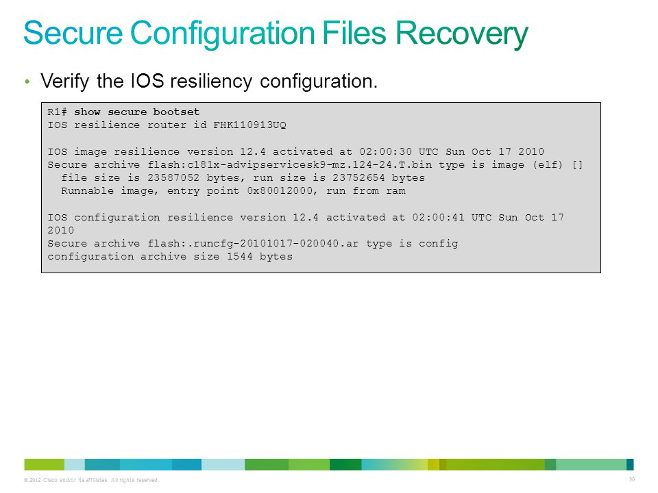 Secure Configuration Files Recovery