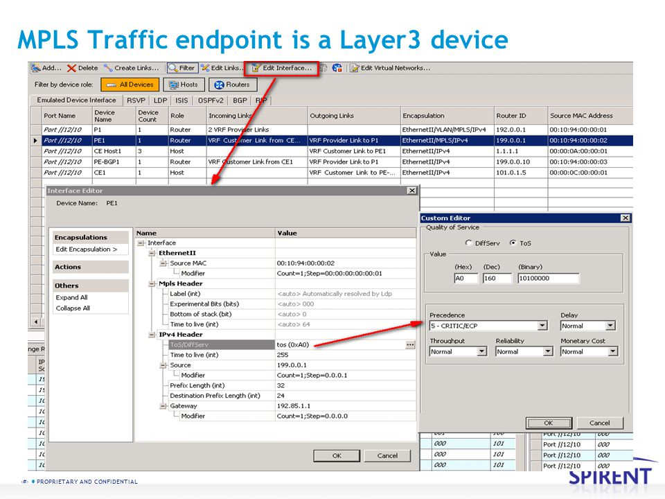 MPLS Traffic endpoint is a Layer3 device