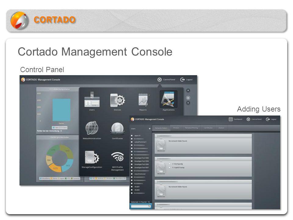 Cortado Management Console