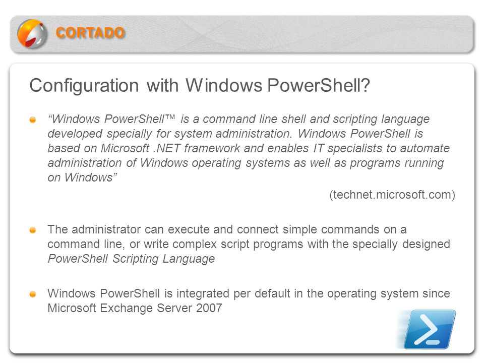 Configuration with Windows PowerShell