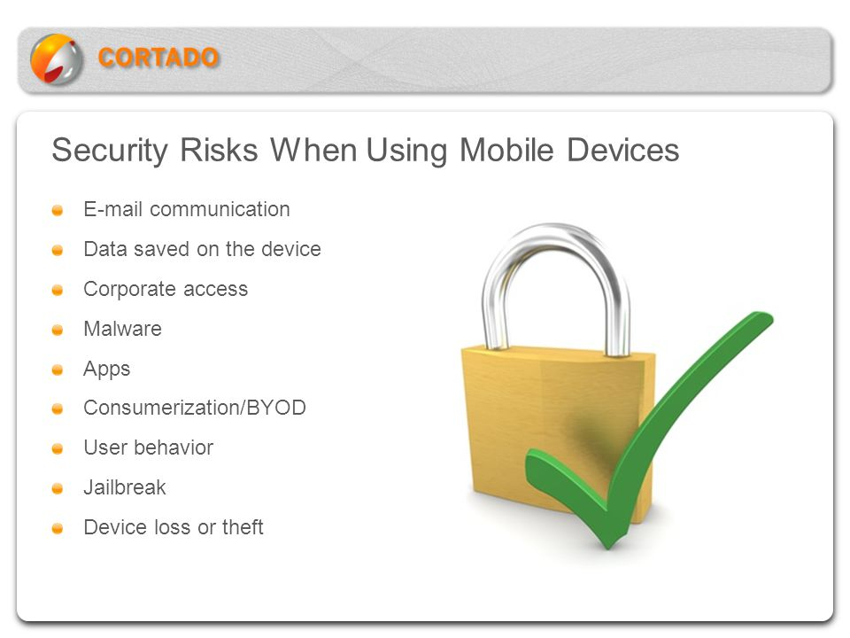 Security Risks When Using Mobile Devices