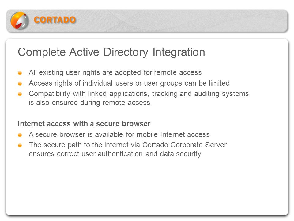 Complete Active Directory Integration