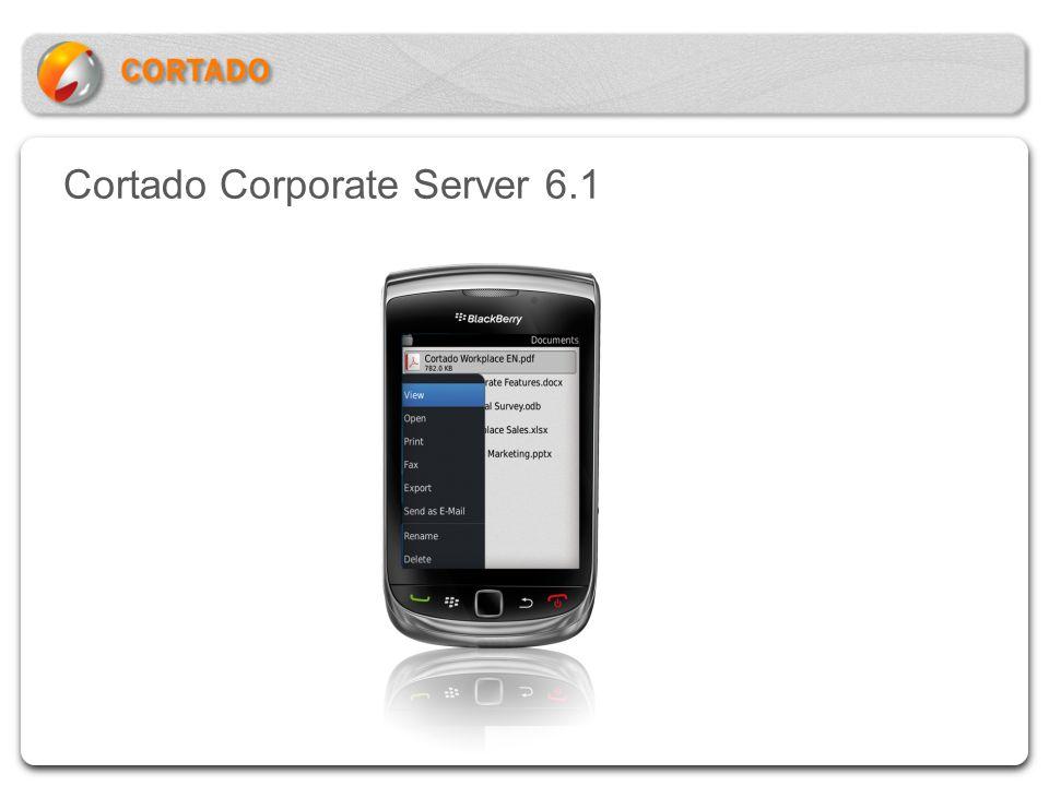 Cortado Corporate Server 6.1