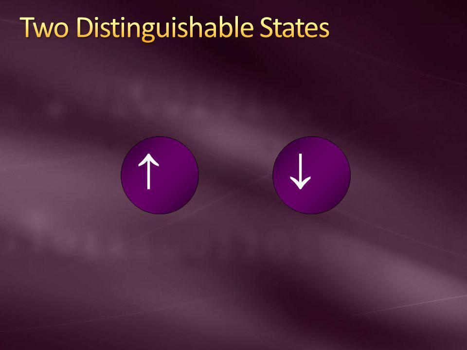 Two Distinguishable States