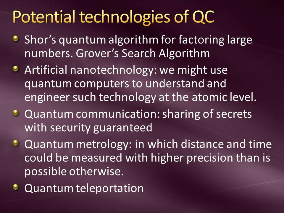 Potential technologies of QC