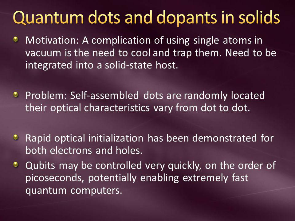 Quantum dots and dopants in solids