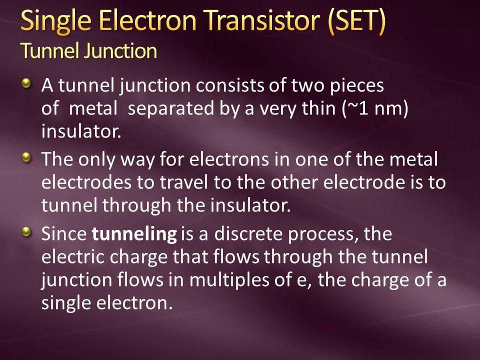 Single Electron Transistor (SET) Tunnel Junction
