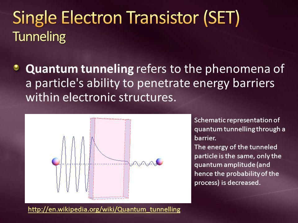 Single Electron Transistor (SET) Tunneling