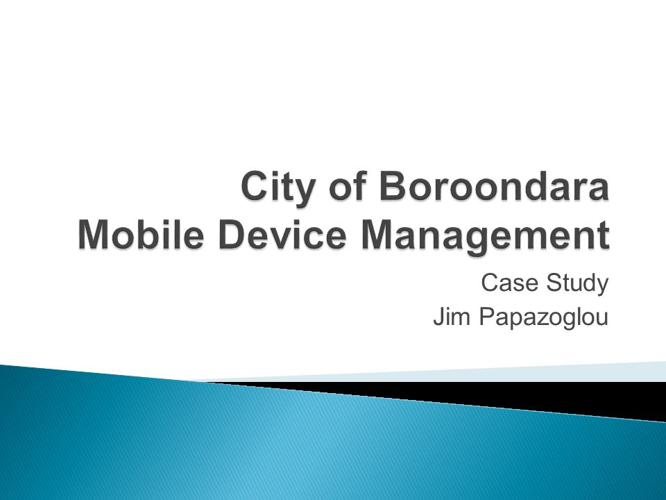 City of Boroondara Mobile Device Management